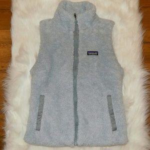 Patagonia | Women's Full-Zip Fuzzy Gray Vest SZ M